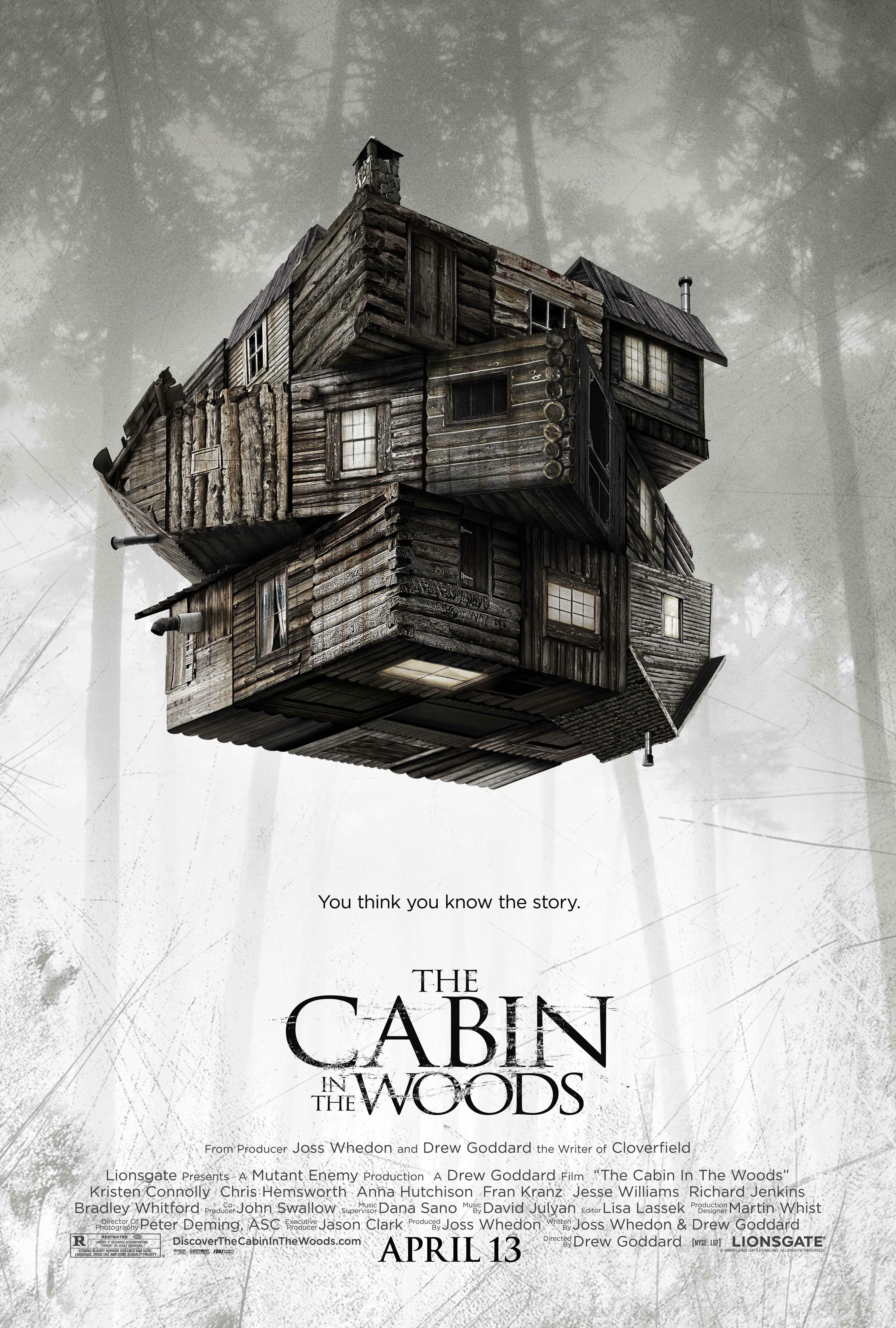 NEW POSTER AND TRAILER FOR THE CABIN IN THE WOODS