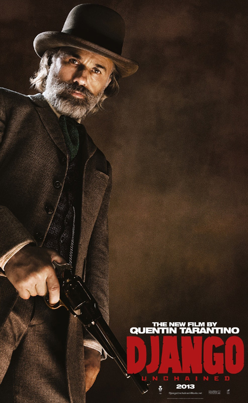 FIVE CHARACTER POSTERS FOR DJANGO UNCHAINED