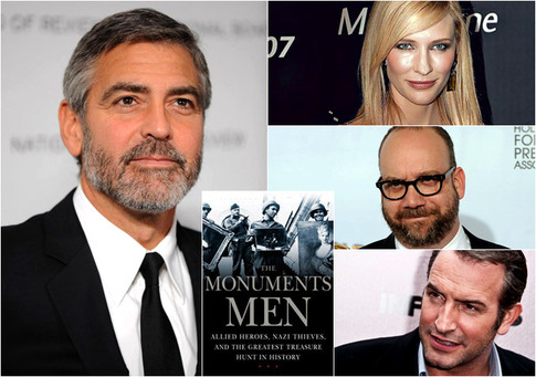Jean-Dujardin,-Cate-Blanchett,-Paul-Giamatti-Sought-For-George-Clooney's-'The-Monument-Men'