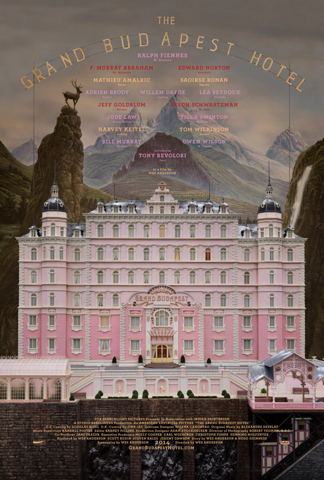 TRAILER FOR WES ANDERSON'S GRAND BUDAPEST HOTEL